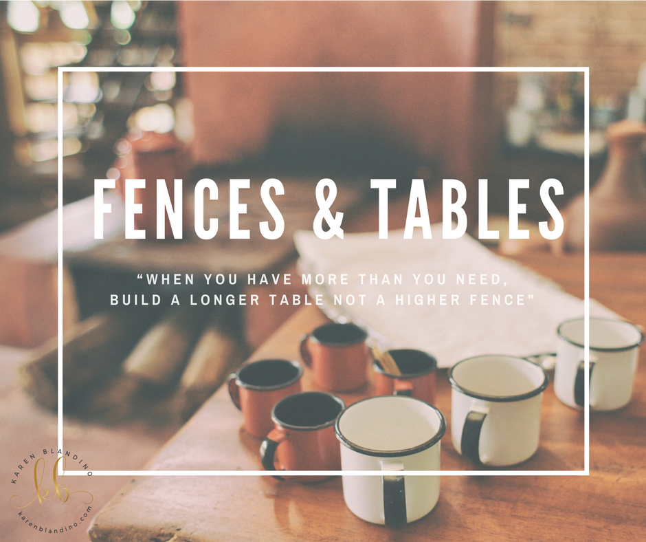 Fences & Tables